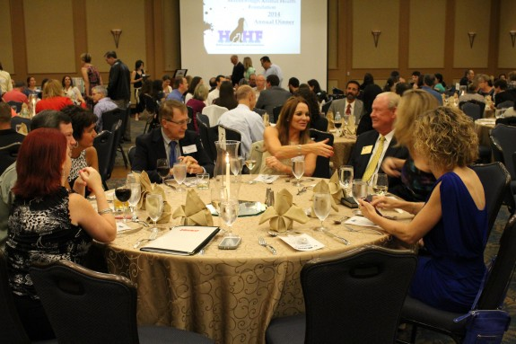 150 members of the veterinary community gathered for the 2014 Annual Dinenr