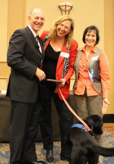 LaRue II & handler Cynthia Moynihan awarded the 2014 Brie Service Dog of the Year Award.